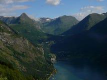 Fjord de Noruega Geiranger Imagens de Stock Royalty Free