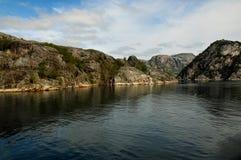 Fjord de Norvegian Photo libre de droits