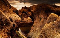 Fjord der niedrigen Gezeiten lizenzfreie stockbilder