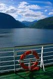 Fjord die van sloependek wordt gezien Royalty-vrije Stock Fotografie