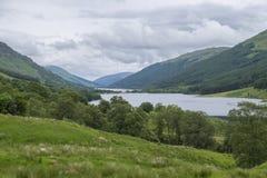 Fjord Doine och fjord Voil Skottland Arkivfoton
