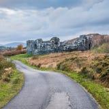 Fjord Doon Castle royaltyfri foto
