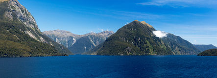 Fjord of Doubtful Sound in New Zealand Royalty Free Stock Photography