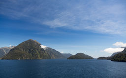 Fjord of Doubtful Sound in New Zealand Stock Image