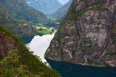 Fjord em Europa norte Fotos de Stock