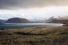 Fjord em Islândia Imagem de Stock