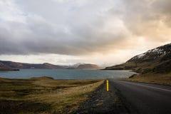 Fjord em Islândia Foto de Stock Royalty Free