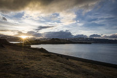 Fjord em Islândia Imagens de Stock Royalty Free