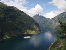 Fjord em Noruega fotografia de stock