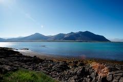 Fjord en Islande photos stock