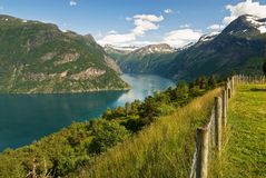 Fjord espectacular Imagens de Stock Royalty Free