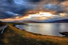Fjord Eyjafjordur Stock Image