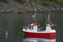 Fjord fishing boat Royalty Free Stock Photography