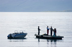 Fjord fishing Royalty Free Stock Photos