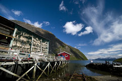 Fjord fishing port Stock Photo