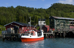 Fjord fishing port stock images