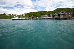 Fjord fishing port royalty free stock image