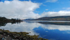 Fjord Fyne, Skottland Royaltyfri Bild