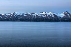 Fjord i Island royaltyfria bilder