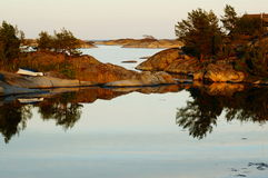 Fjord i Stangnes, Norge Royaltyfri Foto