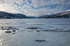 Fjord i vinter Royaltyfri Fotografi