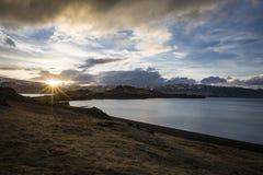 fjord iceland Royaltyfria Bilder