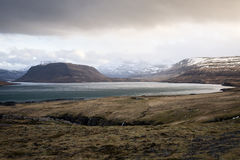 Fjord in Iceland Stock Image