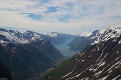 Fjord land Royalty Free Stock Images