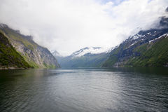 Fjord landscape Royalty Free Stock Photo