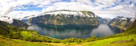Fjord landscape in Norway royalty free stock photos