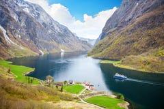 Fjord landscape in Sogn og Fjordane region Royalty Free Stock Photography