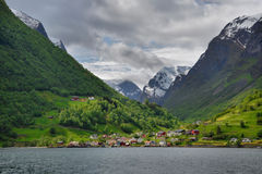 Fjord landscape, Undredal, west Norway Stock Image