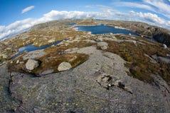 Fjord landskape in Noorwegen Stock Foto's