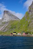 Fjord on Lofoten Stock Photography