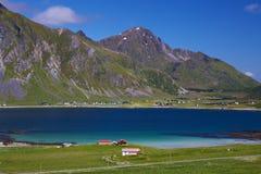 Fjord on Lofoten Stock Image