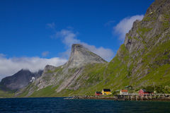 Fjord on Lofoten islands Royalty Free Stock Photo