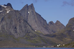 Fjord on Lofoten islands Royalty Free Stock Image