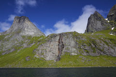 Fjord on Lofoten islands Royalty Free Stock Photography