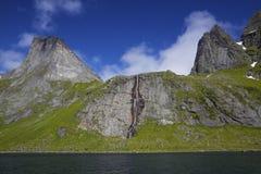 Fjord on Lofoten islands Royalty Free Stock Photography