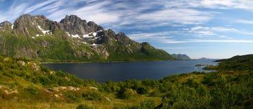 Fjord in Lofoten Islands Stock Images