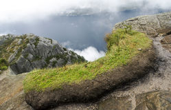 Fjord on the lookout pulpit Stock Image