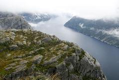 Fjord on the lookout pulpit Royalty Free Stock Photography