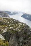 Fjord on the lookout pulpit Stock Photo