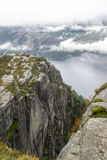 Fjord on the lookout pulpit Stock Photography