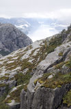 Fjord on the lookout pulpit Royalty Free Stock Image