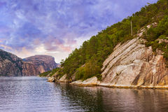 Fjord Lysefjord - Norway Stock Photos