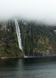 Fjord of Milford Sound in New Zealand Stock Images