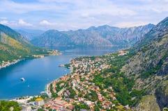 The fjord of Montenegro Royalty Free Stock Photos