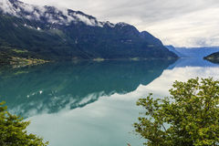 Fjord in morning light Royalty Free Stock Image