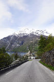 Fjord Mountain Landscape, Geiranger Stock Photo